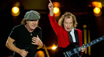 None - Brian Johnson e Angus Young, do AC/DC (Foto:Sven Hoppe/DPA/AP Images)