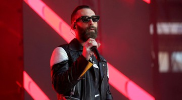 None - Adam Levine durante o show do Maroon 5 no Festival Capital FM (Foto: Isabel Infantes/AP)