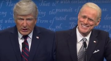None - Alec Baldwin como Donald Trump e Jim Carrey como Joe Biden no SNL (Foto: Reprodução/Youtube)