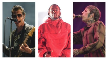 None - Arctic Monkeys, Kendrick Lamar e Bring Me The Horizon (Montagem com fotos de Camila Cara e Richard Shotwell/AP)