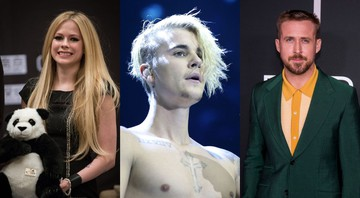 None - Montagem com Avril Lavigne (Foto: Imaginechina via AP Images), Justin Bieber (Press Association) e Ryan Gosling (Charles Sykes/Invision/AP)