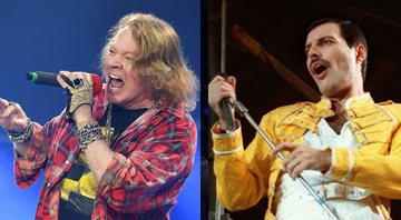 None - Axl Rose e Freddie Mercury (Foto 1: Mark Allan/AP | Foto 2: AP)