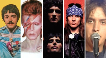 None - Beatles, David Bowie, Queen, Guns N' Roses e The Strokes, uma linha do tempo do rock