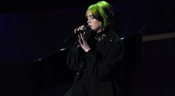 "None - Billie Eilish se apresenta com um cover de ""Yesterday"" no Oscar (foto: Chris Pizzello/ AP)"