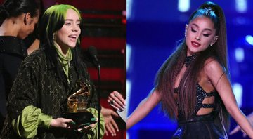None - Billie Eilish (Foto: Matt Sayles / AP) e Ariana Grande (Foto: Chris Pizzello / Invision / AP)