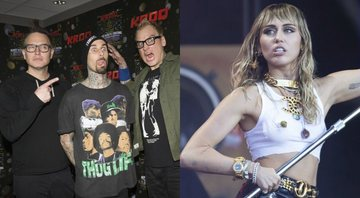 None - Blink-182 e Miley Cyrus (Foto 1:Amy Harris/Invision/AP/ Foto 2: Aaron Chown / PA Wire)