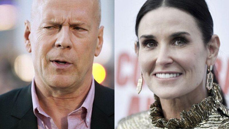 Separados, Bruce Willis e Demi Moore se juntam para passar a quarentena - com pijamas iguais; veja