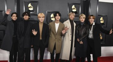 None - BTS no Grammy 2020 (Foto:Jordan Strauss/Invision/AP)