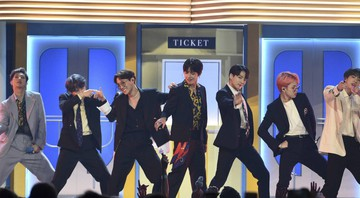 None - BTS no Billboard Music Awards (Foto: Chris Pizzello/AP)