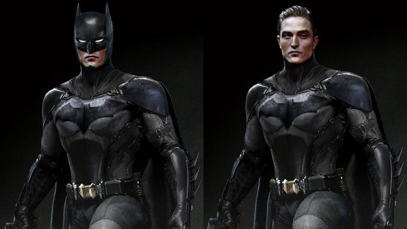 Arte mostra o Batman de Robert Pattinson com os icônicos olhos brancos; veja