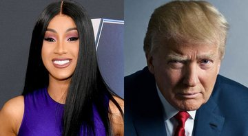 None - Cardi B e Donald Trump (Foto 1: Dia Dipasupil/Getty Images/ Foto 2: Mark Seliger)