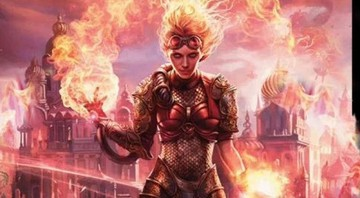 None - A personagem Chandra, de Magic The Gathering (Foto:Reprodução/Wizards of the Coast)