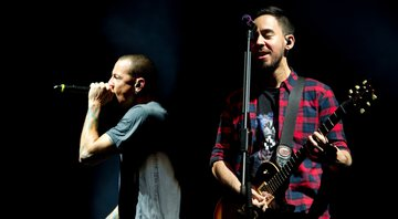 None - Chester Bennington e Mike Shinoda (Foto: Robin Utrecht / Sipa via AP Images)