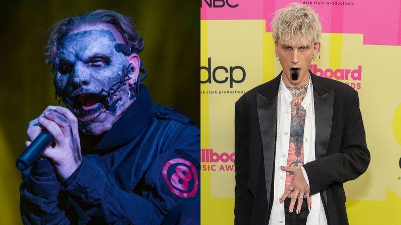 Slipknot: Machine Gun Kelly, que pintou a lingua de preto, acha máscaras da banda esquisitas