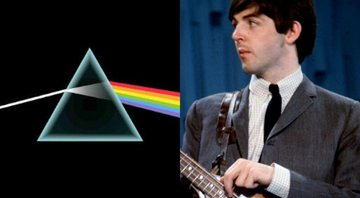 None - Montagem com a capa do disco Dark Side of the Moon, do Pink Floyd, e Paul McCartney (Foto 1: Reprodução / Foto 2: AP)