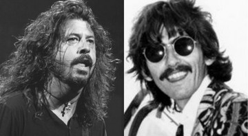 None - Dave Grohl e George Harrison (Foto 1: Rex Features/AP | Foto 2:AP)