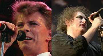 None - Montagem de David Bowie e Robert Smith (Foto 1: Joe Schaber, AP | Foto 2: Rudi Keuntje/AP)