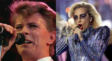 None - David Bowie (Foto: Joe Schaber / AP) e Lady Gaga (Foto: Ronald Martinez / Getty Images)