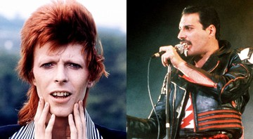 None - David Bowie e Freddie Mercury (Fotos: AP)