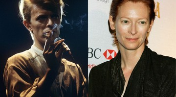 None - David Bowie e Tilda Swinton (Foto: Hans H. Kirmer/AP Images e Carolyn Kaster/AP Images)