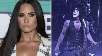 None - Demi Lovato e Paul Stanley (Foto 1: AP e Foto: Richard Shotwell / Invision / AP)