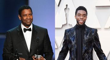 None - Denzel Washington e Chadwick Boseman (Fotos: Getty Images)