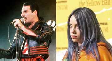 None - Freddie Mercury (Foto: AP) e Billie Eilish (Foto: Joe Russo / Sipa USA/ AP Images)