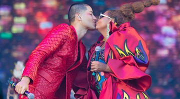 None - Jaloo e Gaby Amarantos no show Pará Pop no Rock in Rio 2019 (Foto: Diego Padilha/I Hate Flash)