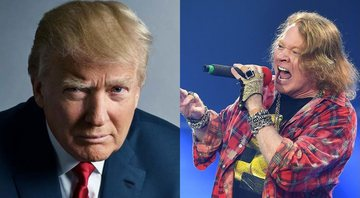 None - Donald Trump e Axl Rose (Foto 1: Mark Seliger | Foto 2: Mark Allan/AP)