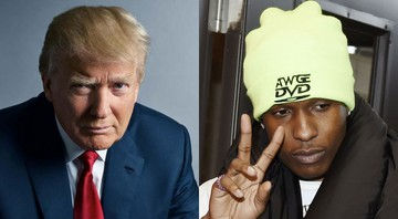 None - Donald Trump e A$AP Rocky (Foto 1: Mark Seliger e Foto 2: Chris Pizzello/Invision/AP)