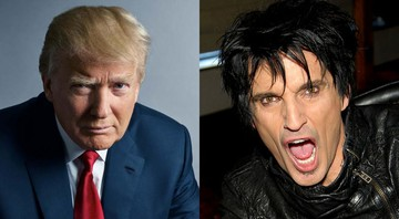 None - Donald Trump e Tommy Lee (Foto 1: Mark Seliger e Foto 2: CC-BY Glenn Francis)