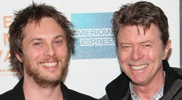 None - Duncan Jones e David Bowie (Foto: Michael Loccisano/Getty Images)