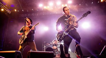 None - Patrick Stump e Pete Wentz, integrantes do Fall Out Boy (Foto: Amy Harris/Invision/AP)