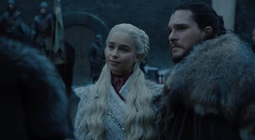 None - Daenerys e Jon Snow, em cena do trailer da nova temporada de Game of Thrones (Foto: HBO)