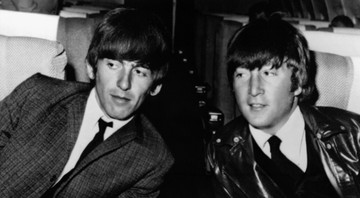 None - George Harrison e John Lennon (Foto:AP Photo/Arquivo)