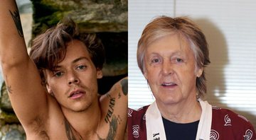 None - Harry Styles e Paul McCartney (Foto 1: Reprodução / Ryan McGinley para Rolling Stone EUA/ Foto 2: The Yomiuri Shimbun/AP Images)