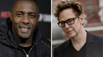 None - Idris Elba (Foto:Richard Shotwell/Invision/AP) e James Gunn (Foto: Evgenya Novozhenina/Sputnik via AP)