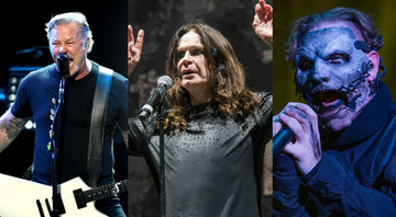None - James Hetfield (Foto: Kevin Winter/Getty Images)/ Ozzy Osbourne (Foto: Amy Harris/AP)/ Corey Taylor (Foto: Amy Harris / Invision / AP)