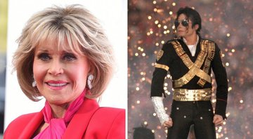 None - Jane Fonda (Foto: Jordan Strauss/ Invision/ AP) e Michael Jackson no Superbowl (foto: Getty Images/ George Rose)