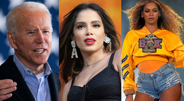 None - Joe Biden (Foto: Drew Angerer/Getty Images)/ Anitta (Foto: Pedro Fiúza Nur / PhotoSipa USA / AP)/ Beyoncé (Foto: Kevin Winter/Getty Images)