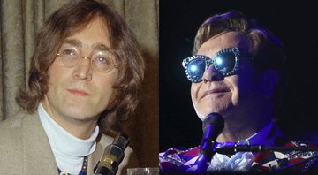 None - John Lennon (Foto: AP) e Elton John (Foto: Matt Sayles/Invision for Black Ink/AP Images)