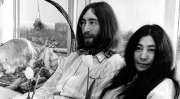 None - John Lennon e Yoko Ono no Bed-In (Foto: AP)