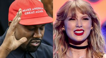 None - Kanye West (foto: Getty Images/ Oliver Contreras) | Taylor Swift (Foto de Evan Agostini / Invision / AP)