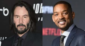 None - Keanu Reeves (Foto: Evan Agostini Invision / AP) e Will Smith (foto: AP / Jordan Strauss)