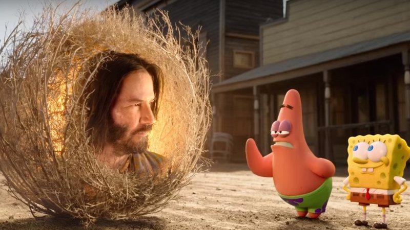 Rolling Stone · Keanu Reeves faz participação em novo filme de Bob Esponja;  assista ao trailer