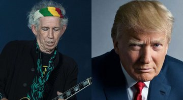 None - Keith Richards e Donald Trump, presidente dos EUA (Foto 1: Foto:Sipa/AP Images | Foto 2: Mark Seliger)