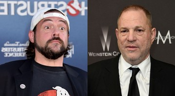 None - Montagem com Kevin Smith (Foto: Jordan Strauss/Invision/AP) e Harvey Weinstein (Chris Pizzello/Invision/AP)