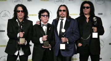 None - Paul Stanley, Peter Criss, Ace Frehley e Gene Simmons na formação original do Kiss (Foto:Andy Kropa/Invision/AP)