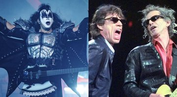None - Gene Simmons (Foto: Amy Harris / Invision / AP) | Mick Jagger e Keith Richards, dos Rolling Stones, em 1999 (Foto: AP Images / Elise Amendola)