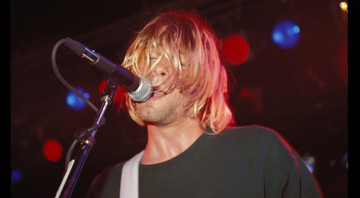 None - Kurt Cobain, do Nirvana, se apresenta no Roxy, em Hollywood, em agosto de 1991 (Foto: Kevin Estrada/MediaPunch/IPX)
